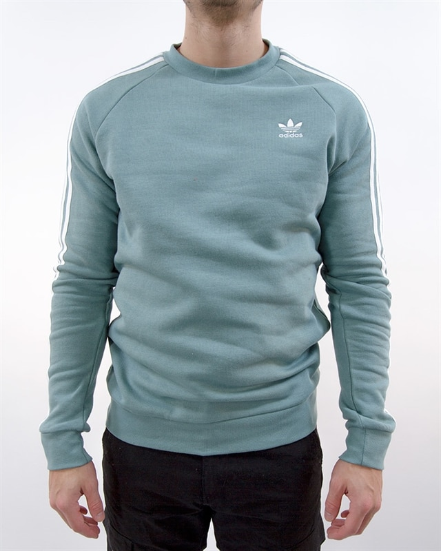 adidas Originals 3 Stripes Crew | DV1637 | Blue | Kläder | Footish