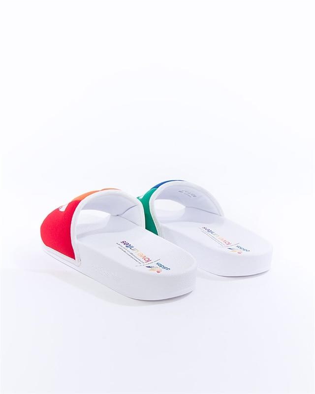 adidas Originals Slippers Adilette Pride Ftwr WhiteOrange