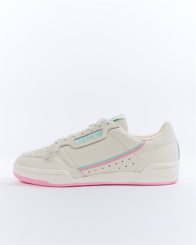 adidas Originals white and pink Continental 80 sneakers