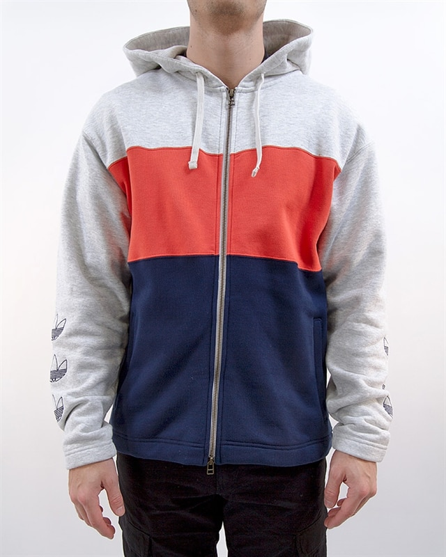 66c5ef7f adidas Originals Full Zip Hoody | DV3145 | Gray | Kläder | Footish