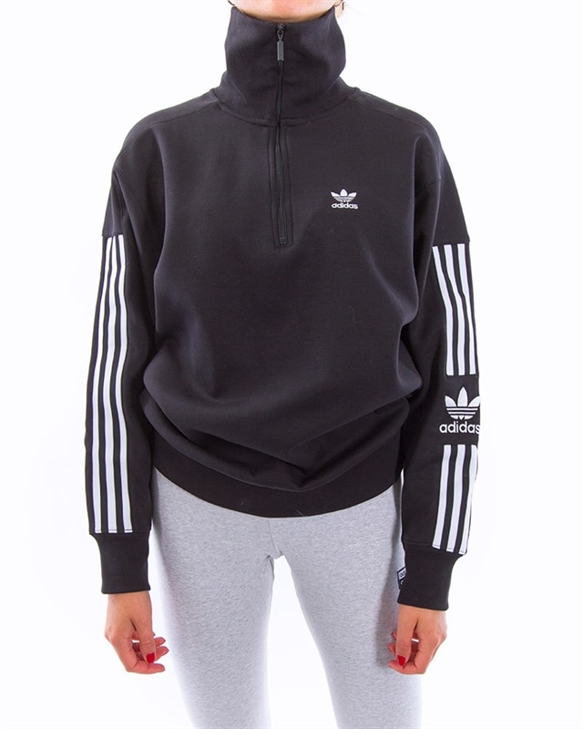 adidas Originals Half Zip Sweater | ED7526 | Svart | Kläder | Footish