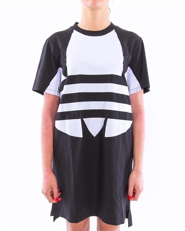 adidas Originals Large Logo Tee Dress W | FR7174 | Svart | Kläder | Footish