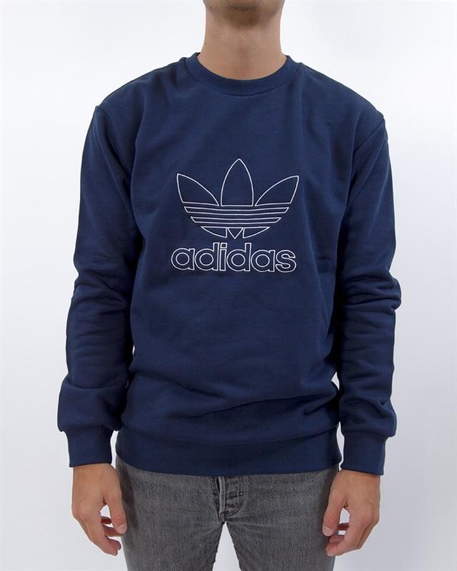 adidas Originals Outline Crew | DH5761 | Blå | Kläder | Footish
