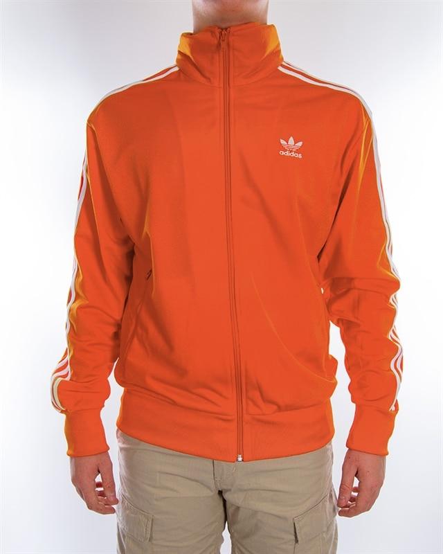 Adidas Track Jacket Originals White Brown Orange Retro Color