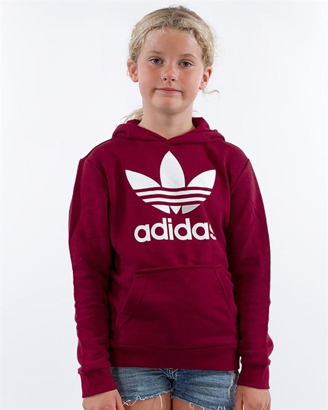 4f7e9118e09 adidas Originals Trefoil Hoodie J | CD6501 | Röd | Kläder | Footish