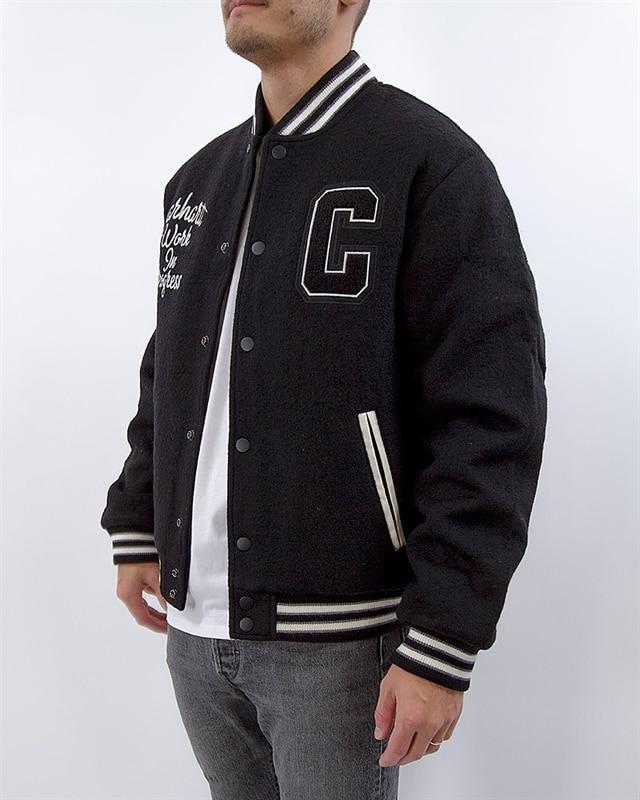 3b48169b5b4 Carhartt Pembroke Varsity Jacket | I025105.89.00.03 | Black | Kläder ...