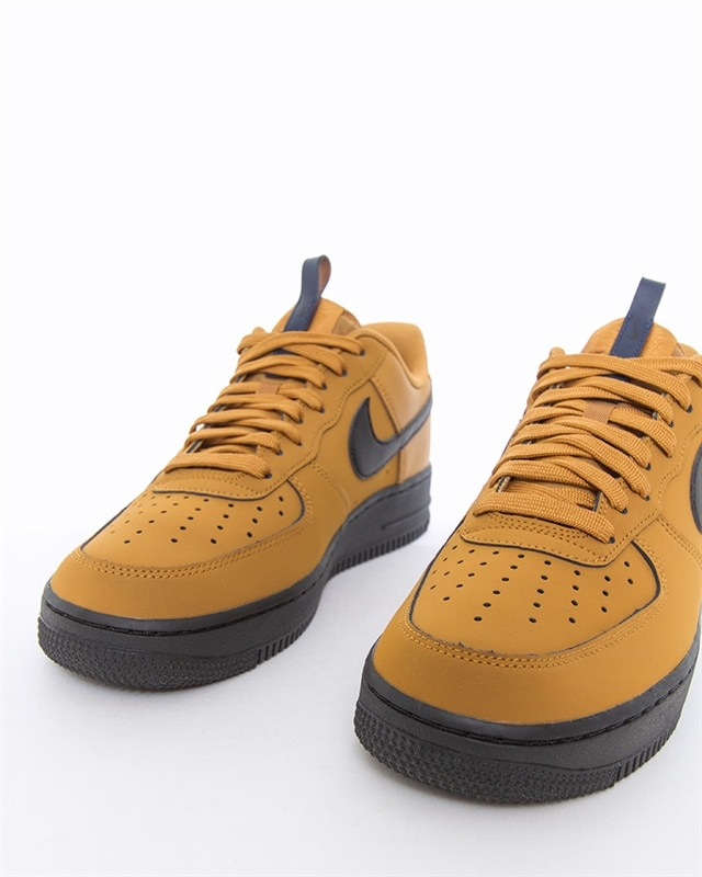 Mens Nike Air Force 1 AF1 '07 Mid WheatBlack White On Sale