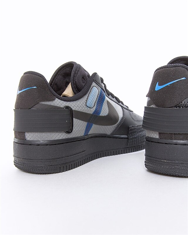 Nike Air Force 1 Type BlackPhoto Blue Platinum Tint AT7859 001