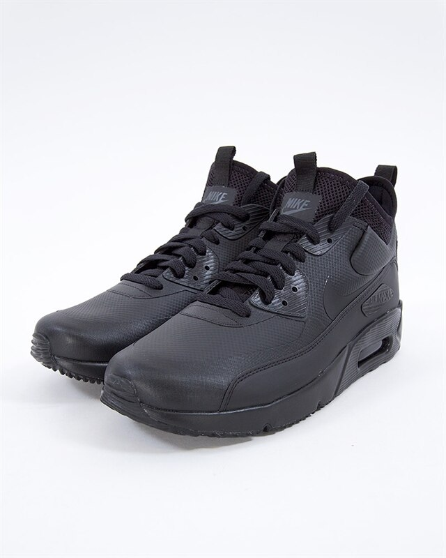 Nike Air Max 90 Ultra Mid Winter 924458 004 Herren Schuhe Schwarz , Größe: EU 47 US 12.5