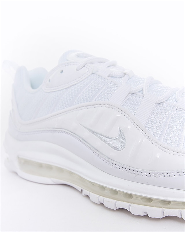 Men's Nike Air Max 98 Running Shoes Triple White Pure Platinum Sz 9.5 640744 106
