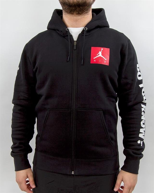 best sneakers cab48 8cc24 Nike Jordan Sportswear AJ 3 Flight Fleece Full-Zip Hoodie - 943924-010 -  Black - Footish: If you're