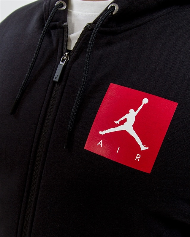 best sneakers cab48 8cc24 Nike Jordan Sportswear AJ 3 Flight Fleece Full-Zip Hoodie - 943924-010 -  Black - Footish: If you're