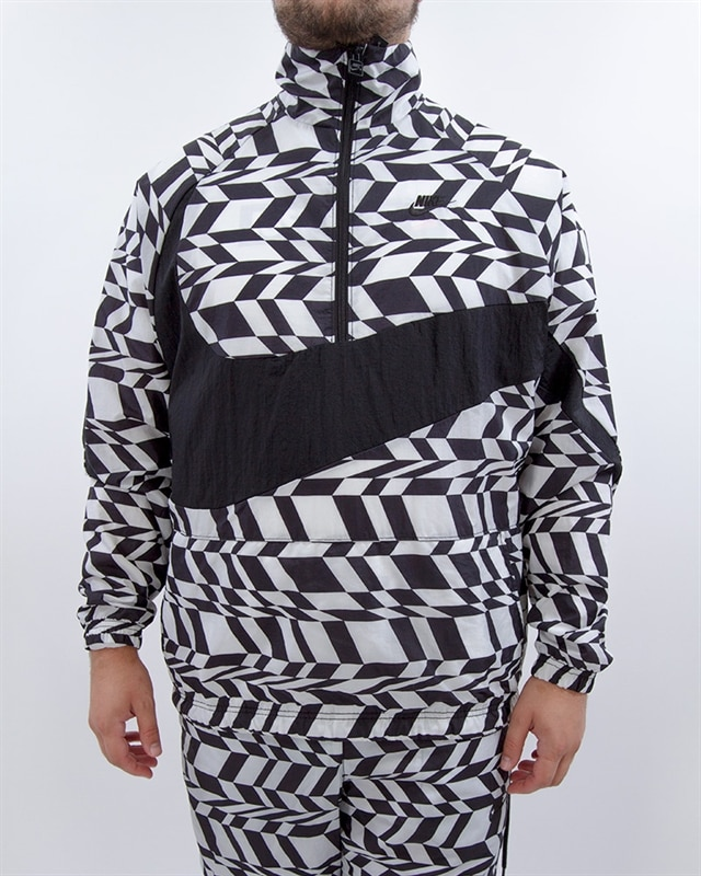 cd3581ef78b77 Nike NSW AOP Swoosh Woven Half Zip Jacket - AO0862-100 - White ...