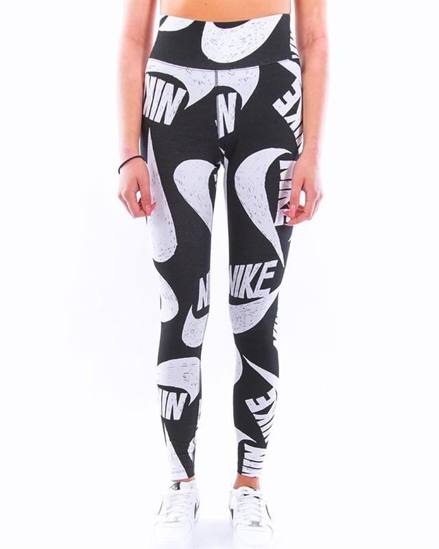 Nike Wmns Sportswear Printed Leggings   CJ2059 010   Black   Kläder   Footish