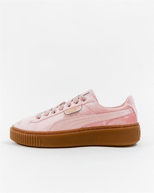 puma basket platform rosa