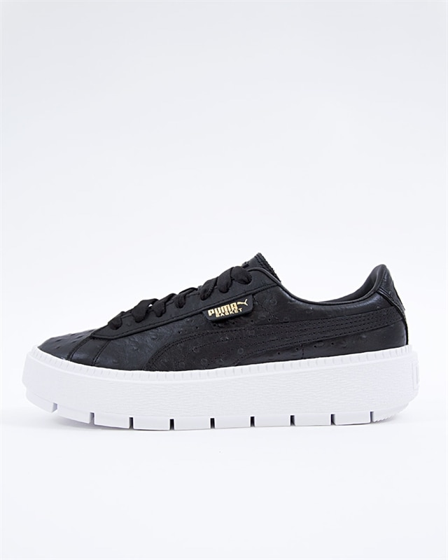 e63149833a Puma Platform Trace Ostrich Wns - 366684-01 - Black - Footish: If you're  into sneakers