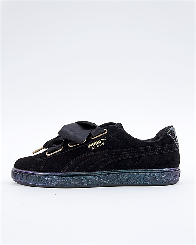 Puma Suede Heart Satin Wns - 362714-03 - Black - Footish  If you re ... 929676fef