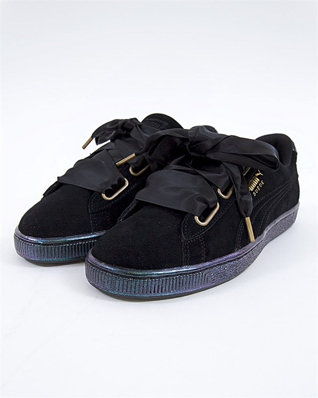 ... Puma Suede Heart Satin Wns - 362714-03 - Black - Footish If you re ... 4049c6b2a