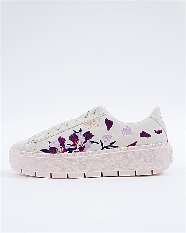 newest a032c fd997 Puma Suede Platform Trace Flowery - 367810-01 - Pink - Footish: If you're  into sneakers