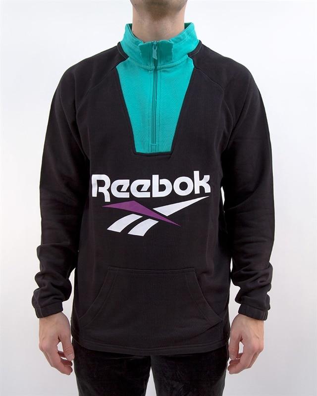 45a925f3f1e Reebok Classic V 1/4 Zip Sweatshirt | DX3822 | Svart | Kläder | Footish