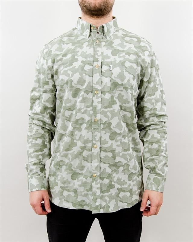 WeSC Naruto Camo Jacquard Burnt Olive Shirt SALE