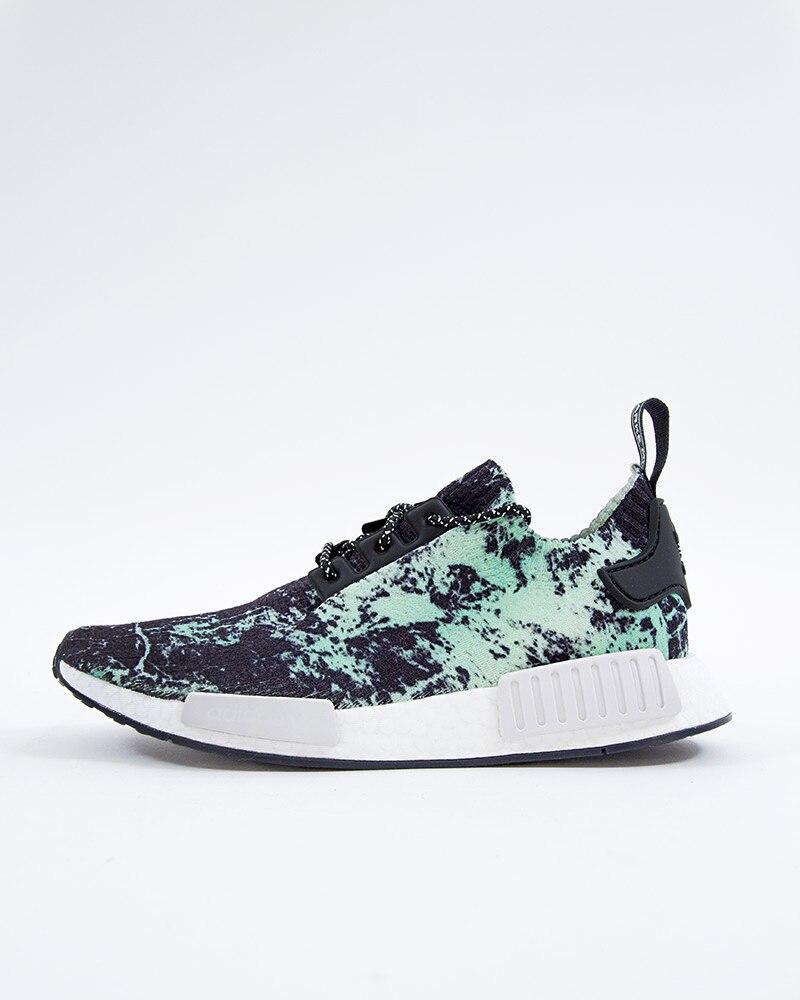 online store 78e77 152a5 adidas Originals NMD R1 PK - Green Marble | BB7996 | Black | Sneakers |  Skor | Footish