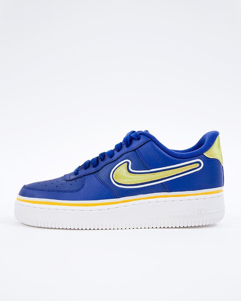 super popular 7a4cb 1ea00 Nike Air Force 1 07 LV8 Sport   AJ7748-400   Blue   Sneakers   Skor ...