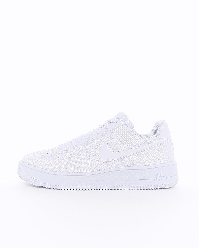buy popular 5f424 3ea73 Nike Air Force 1 Flyknit 2.0 (GS) | BV0063-100 | White | Sneakers | Skor |  Footish